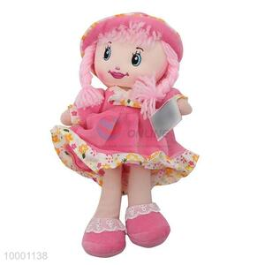 60cm Pink Cloth Doll With Hat