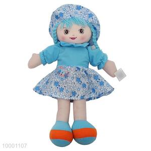 60cm Cloth Doll With Colorful Hat And Floral Skirt