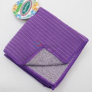 Wholesale Kitchen Cleaning Cleaning 2Pcs Purple&Silver Multifunctional Towel