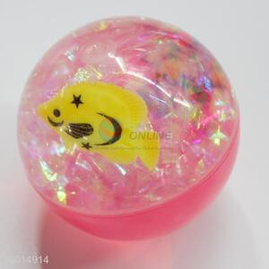 65mm two face toy ball with fish inside