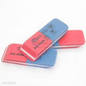 1 piece blue-red eraser for student