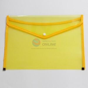 FC Grids Pattern Yellow File Bag
