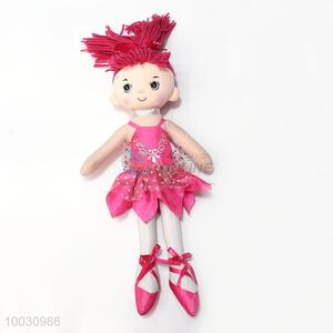 40cm kids rose red dress cloth doll toy