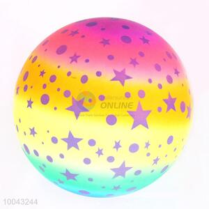 50g 16cm rainbow star pattern pvc soft volleyball bouncy balls