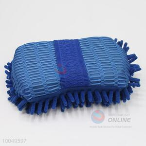 Hot Sale 22*11*6CM Blue Cleaning Tool Chenille and Figure Eight Car Sponge Block