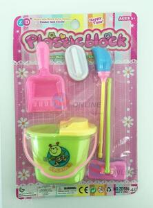 Colourful mini house cleaner toys exercise baby brain
