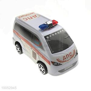 High quality small plastic inertial police car toy in Russian