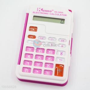 Wholesale electronic ABS rose red calculator with button battery
