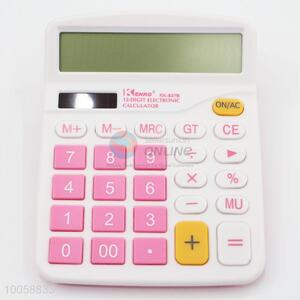 12-Digit wholesale pink electronic calculator