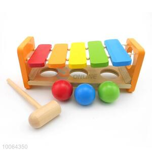 Knock The Ball Piano Wooden Toy
