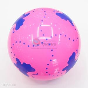 Flowers printed pink pvc inflatable beach ball