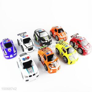 New design 8 Piece Plastic Inertia Police Car Toys for Kids