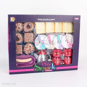 New Arrival 25pcs Lovely Plastic Cupcake Tea Set, Afternoon Snack Pretending Play