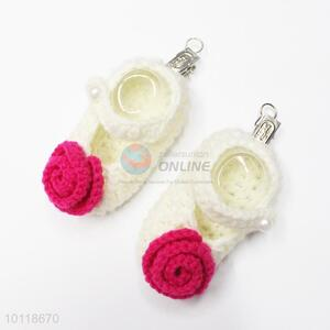 Promotional custom floral caddice baby shoes
