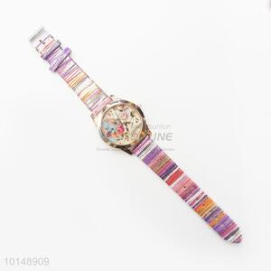 Utility and Durable PU Beauty Women/Ladies Watch