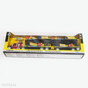 China Factory Friction Drag Head Truck Toys with Cars