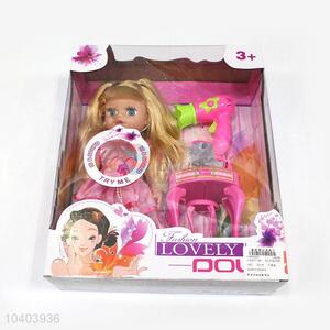 New design fashion doll set for girl toy with dresser
