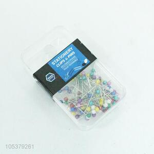 Good quality 100pcs colorful stationery pins