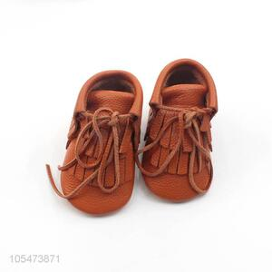 Hot Sale Leather Thin Shoes Lace-Up Casual Shoes For Baby