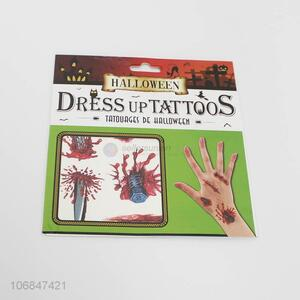 Factory price Halloween dress up bloody tattoos