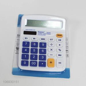 High quality office use 12 digits plastic calculator