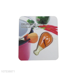 Latest design drumstick shape silicone lid lifter pot lid holder