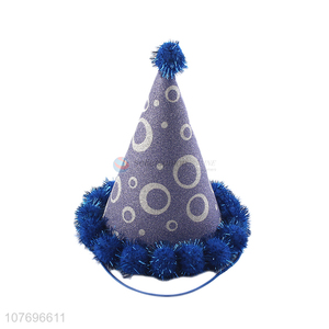 New arrival fashion glitter cone paper hat birthday party hat