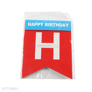 Factory direct sale happy birthday pull flag birthday banner flag