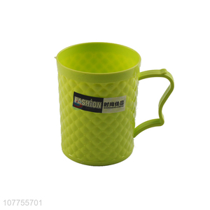 Fashion Colorful Plastic Cup Water Cup Tooth Mug With Handle