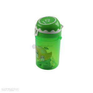 Portable Plastic Water Cup Fashion Water Bottle With Straw