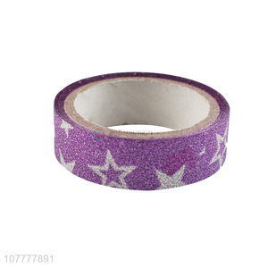 New arrival star pattern glitter washi tape decorative tapes packaging tape