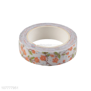 Exquisite popular flower pattern packing tape decorative washi tape