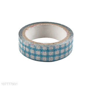 Good sale checked pattern washi tape non-residue decorative tapes