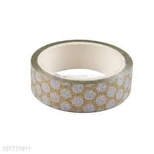 Hot products polka dot pattern decorative tape glitter washi tapes