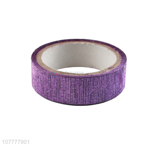 Factory price rough glitter washi tape decorative tape for journal