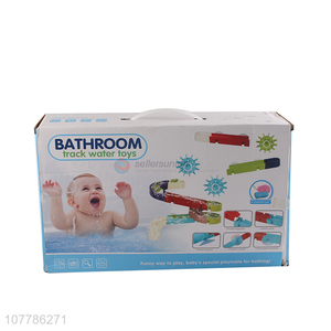 Wholesale assembled bathroom track game baby bath toy for toddler
