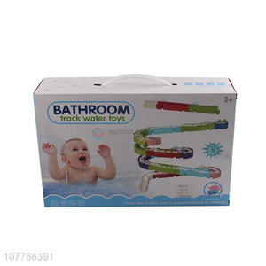 Wholesale baby bath toys assemble track water toys for summer