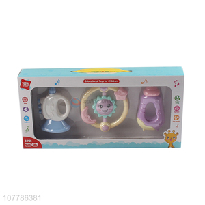 Wholesale non-toxic safety baby rattles infant toys