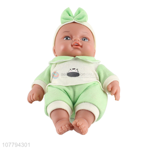 High quality simulation baby toys play house dress up vinyl doll