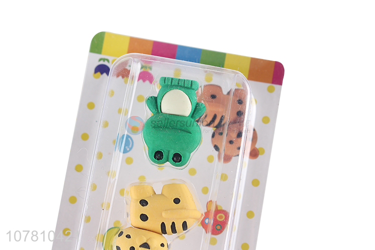 New arrival lovely animal erasers non-toxic children erasers
