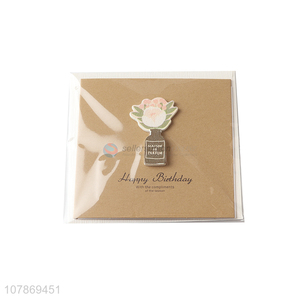 Fashion style happy birthday paper greeting cards for sale