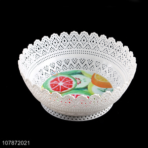 Hot selling multi-purpose hollowed fruit plate plastic snacks dish