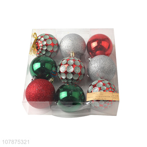 Wholesale Christmas Decoration 9 Pieces Christmas Ball Set