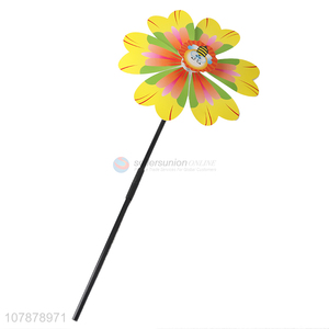 Good quality colorful plastic flower windmill toy for children