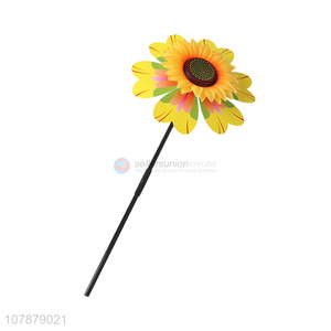Wholesale sunflower shape plastic windmill toy for garden decor