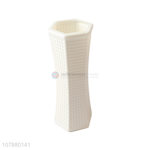 Excellent quality simple imitation ceramic flower vase for wedding decoration