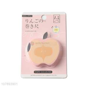 Promotional gifts 150mm apple shaped measuring tape mini tape measure