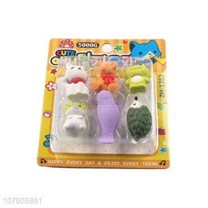 Cute Animal Shape Eraser Funny Pencil Erasers For Students And Office
