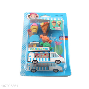 New Arrival Ice Cream Van Series Eraser Creative Stationery For Kids