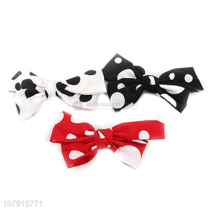 Factory Wholesale Fashion Bow Hairpin Spring Hair Clip